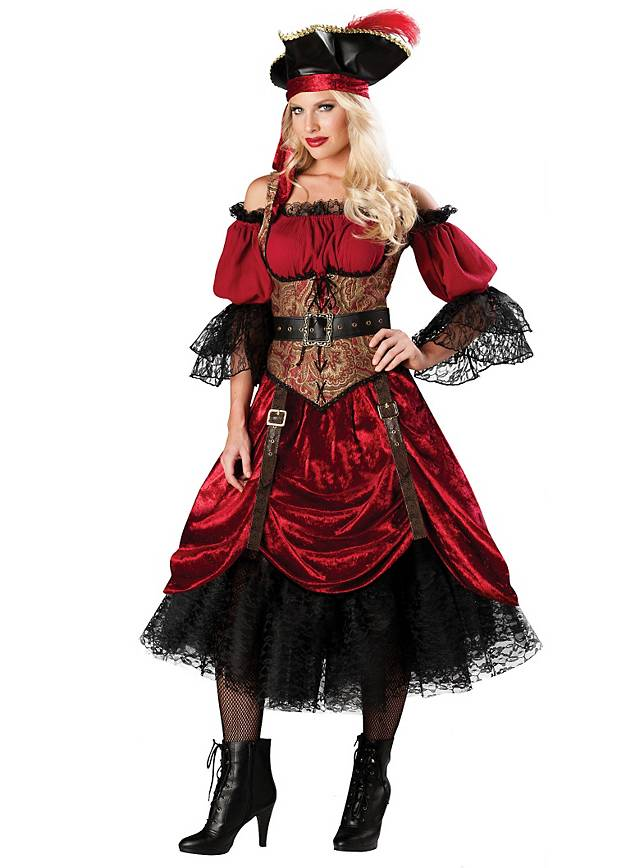 Pirate Costume Victorian Buccaneer Lady  sc 1 st  Maskworld & Pirate Costume Victorian Buccaneer Lady - maskworld.com