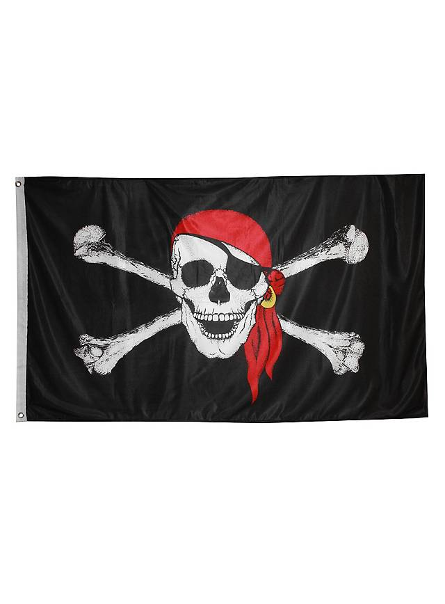 Pirate Flag with Head Scarf