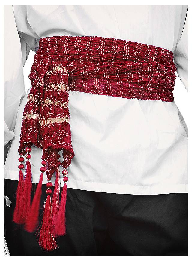 Pirate Sash burgundy