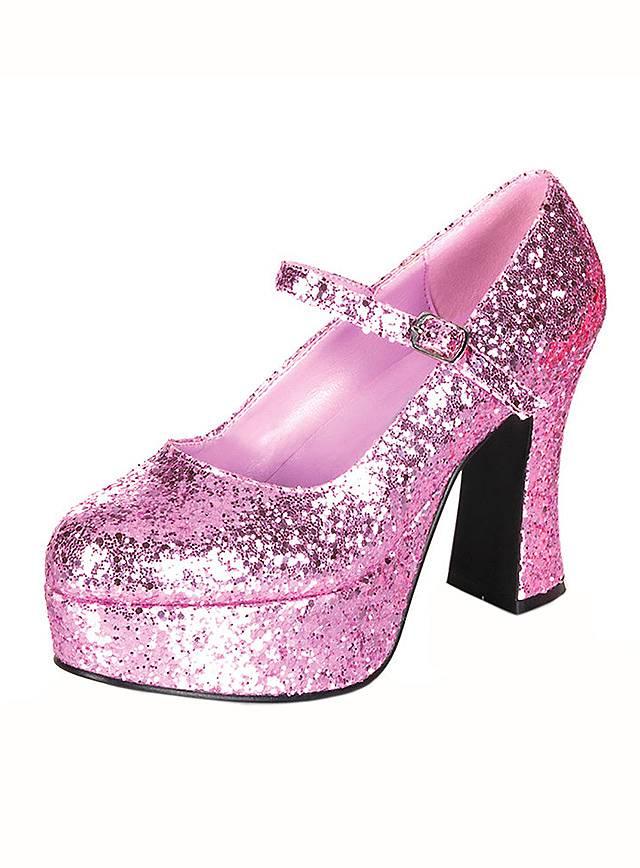 Plateau Schuhe glitter-pink