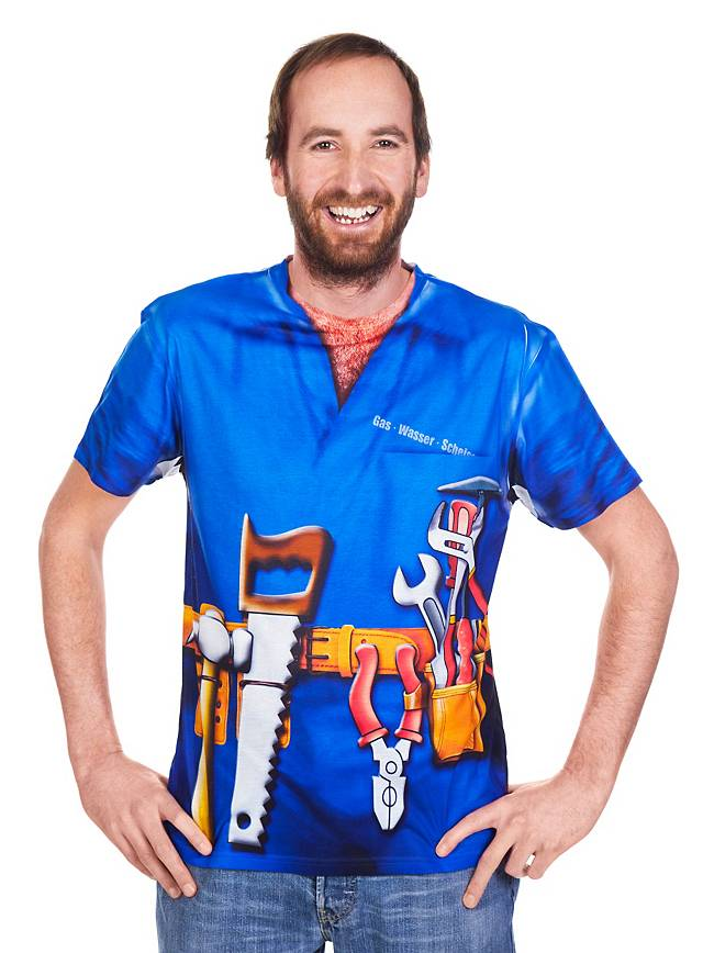 Plumber costume t shirt for Plumber t shirt cleavage