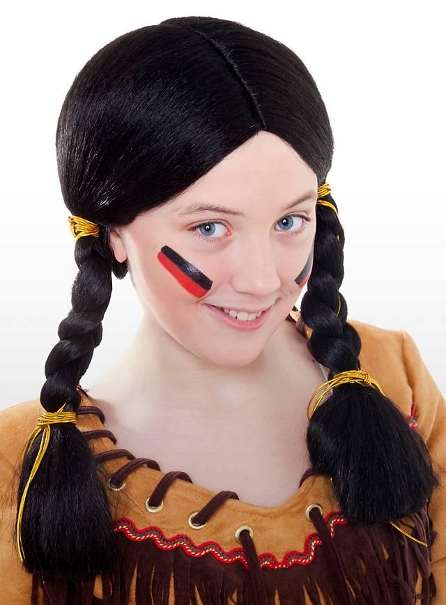 Pocahontas Indianer Kinderperücke