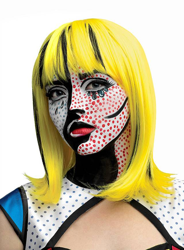 Pop Art Blondine Perücke