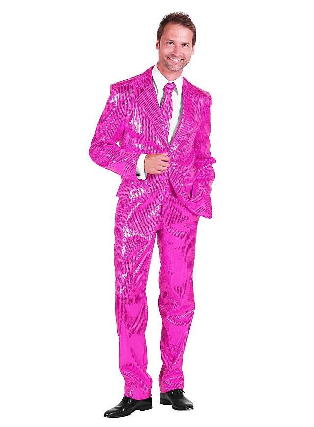 Pop singer sequined suit pink costume