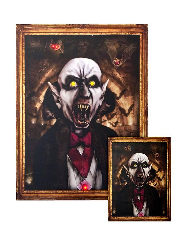 Portrait lumineux «Dracula» moyen