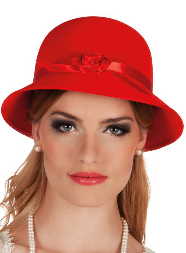 Pot hat 20s red