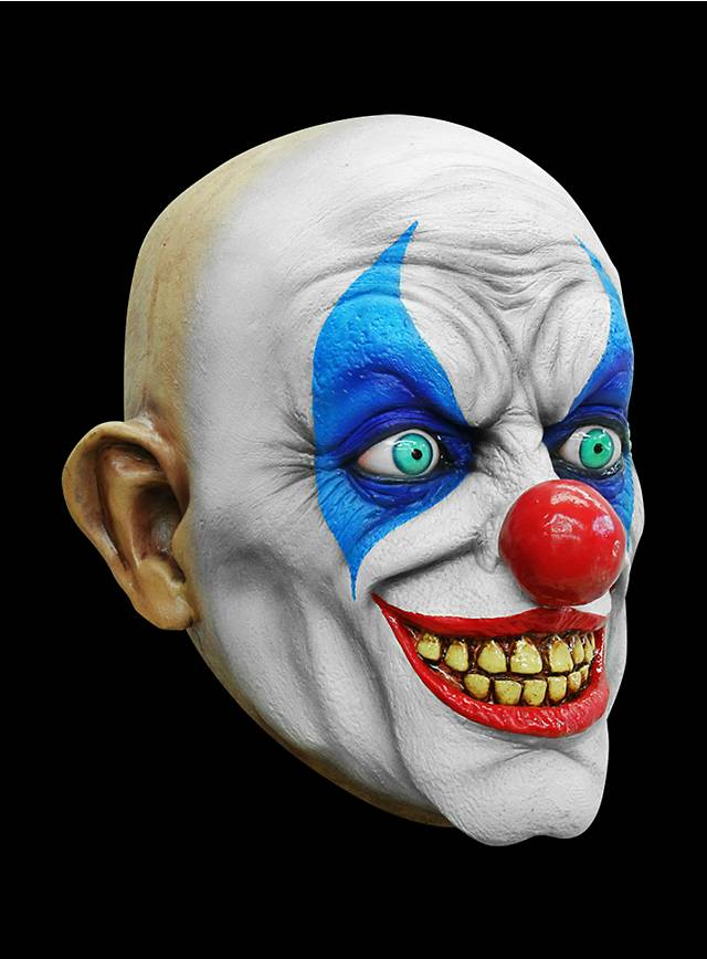 Psycho Clown Maske des Grauens aus Latex