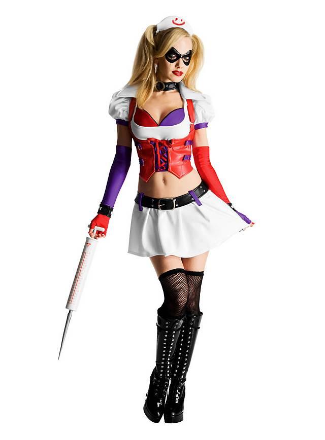 Psycho Doktor Harley Quinn Kostüm