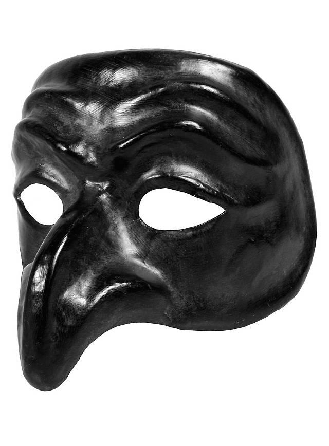 34 90 Pulcinella Nero Venezianische Maske