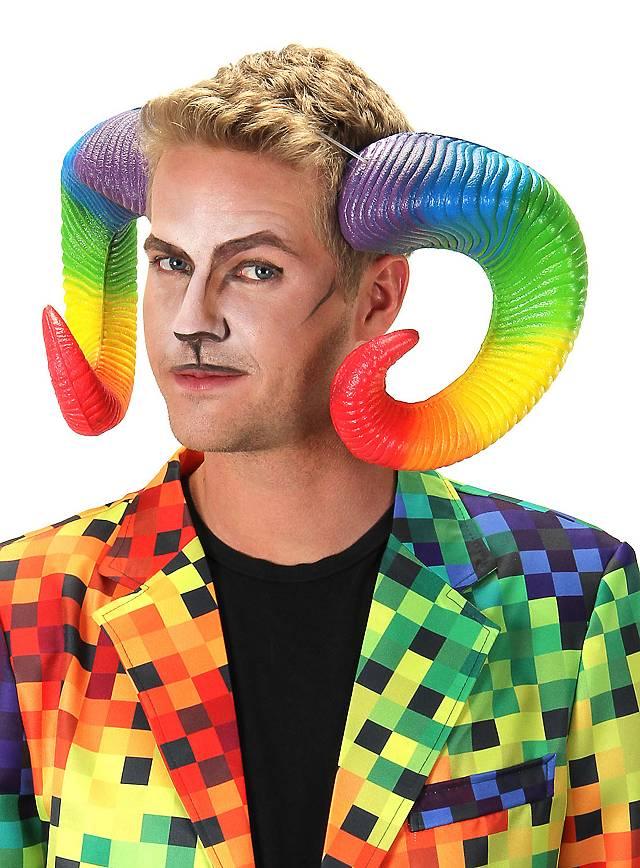 Ram Horns Rainbow