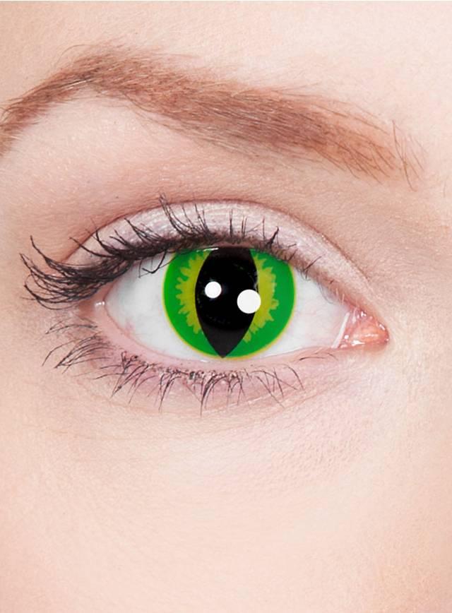 Raubtier grün Kontaktlinsen