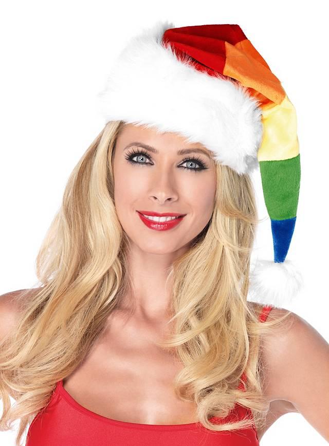 Regenbogen Weihnachtsmütze