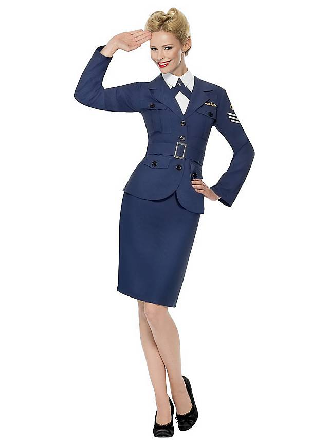Retro Air Force Pilotin Kostüm