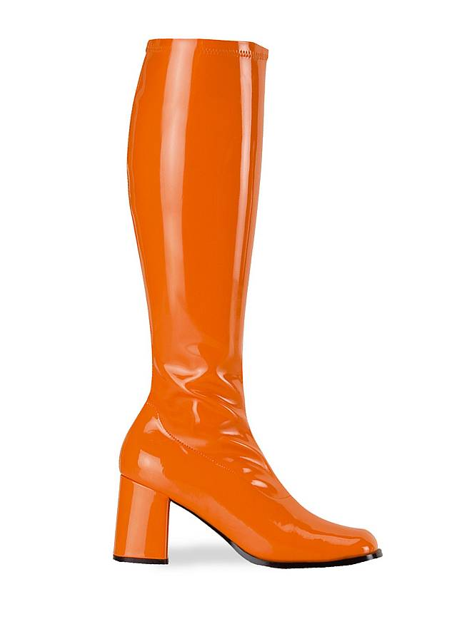 Retro Boots Stretch Vinyl orange