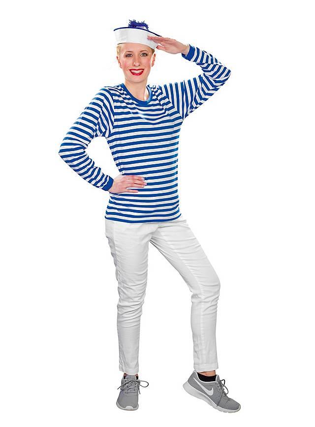 Ringelshirt langarm blau-weiß