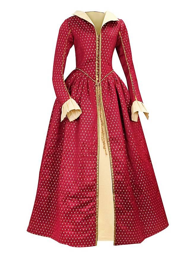 Robe reine d 39 cosse bordeaux - Robe reine des glaces ...
