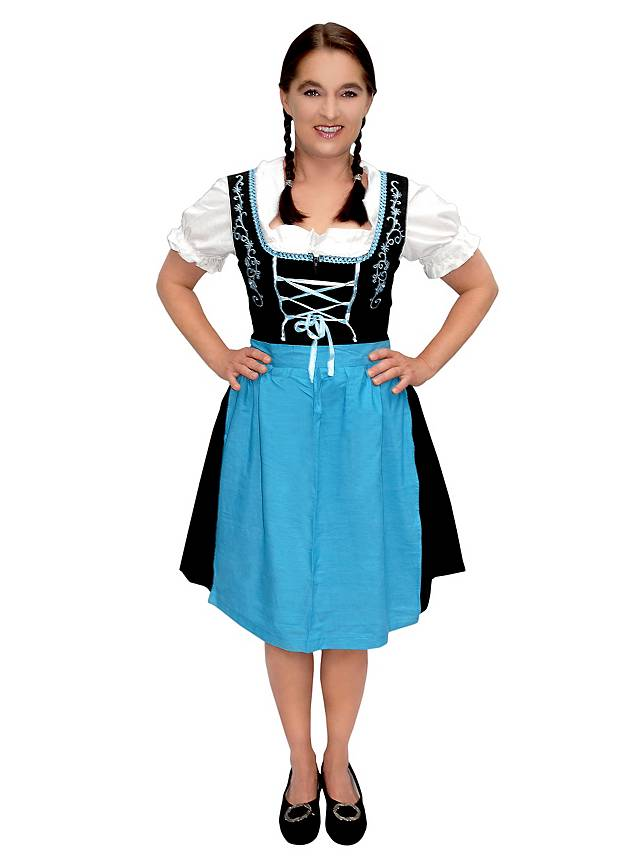nouveaux styles 04fa3 7d988 Robe bavaroise avec tablier bleu