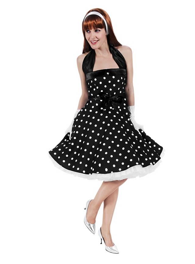 Rockabilly Kleid schwarz-weiß
