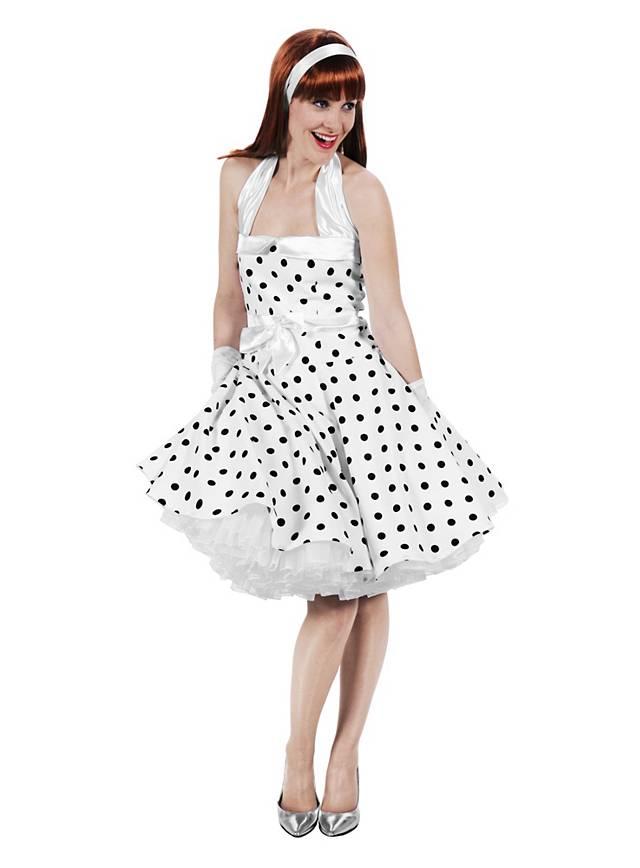 Rockabilly Kleid weiß schwarz