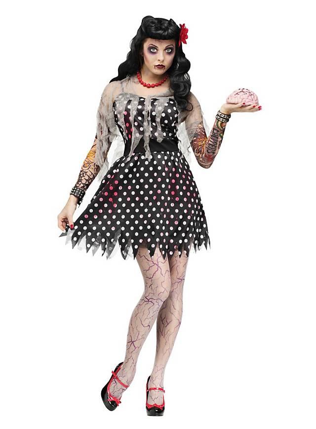 rockabilly zombie girl costume. Black Bedroom Furniture Sets. Home Design Ideas