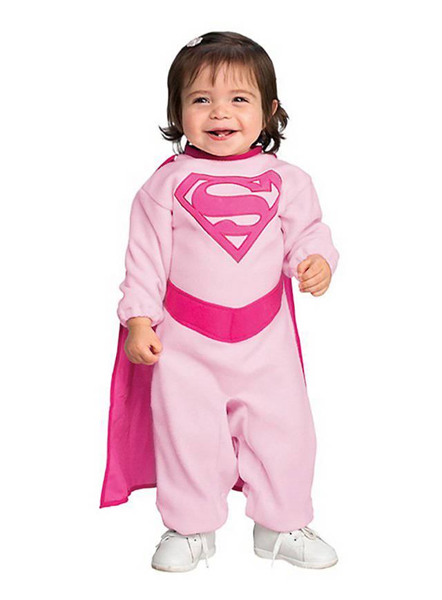 Rosa Supergirl Babykostüm