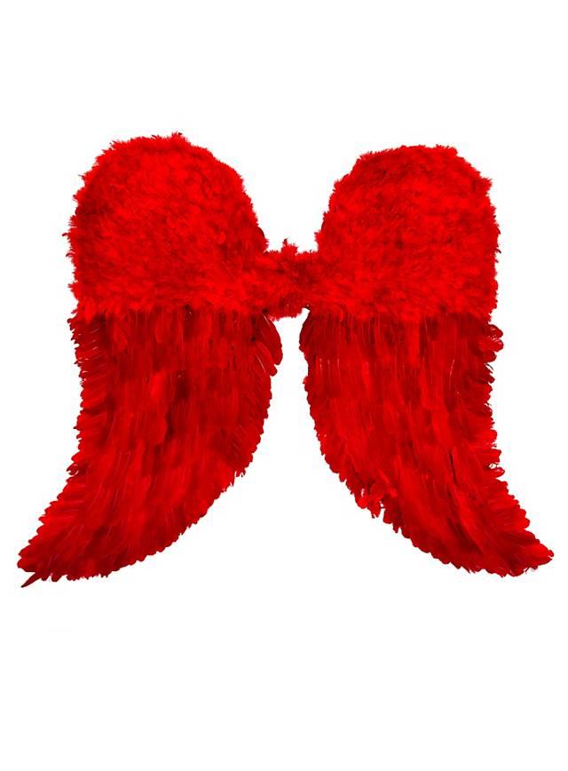 Rote Engelsflügel Federn