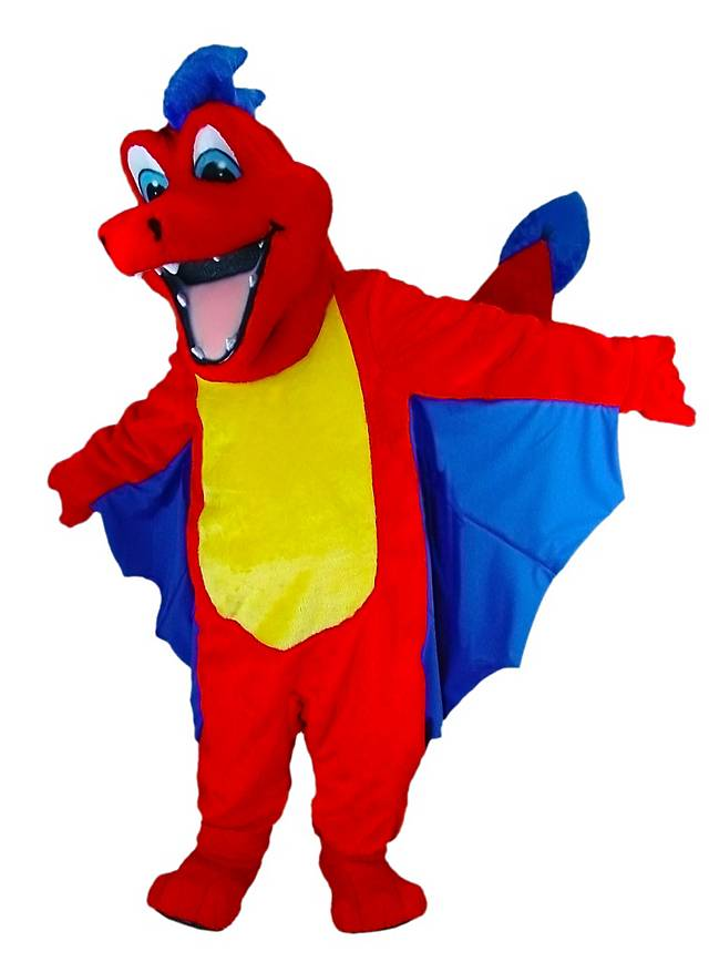 Roter Drache Maskottchen