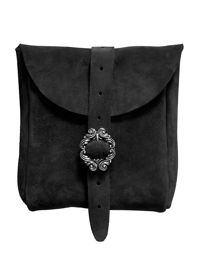 Sacoche de ceinture en daim noir