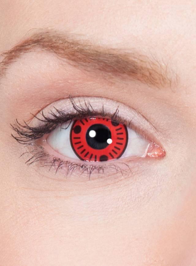 Sasuke Sharingan Effect Contact Lenses - maskworld.com