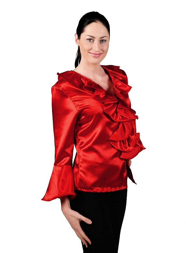 Satin Blouse red