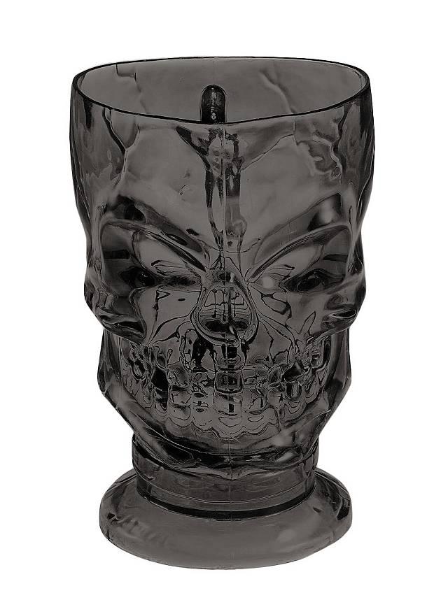 Schädel Becher schwarz Halloween Deko