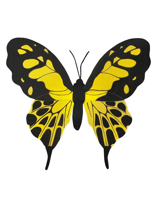 Schmetterlingsflügel klein schwarz-gelb