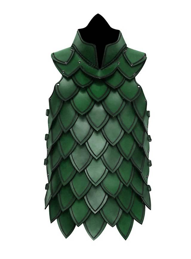 Schuppenpanzer aus Leder grün