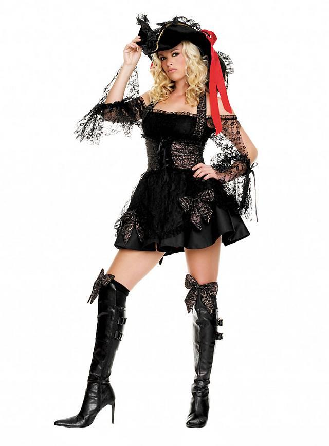 Schwarze Piratin Kostüm