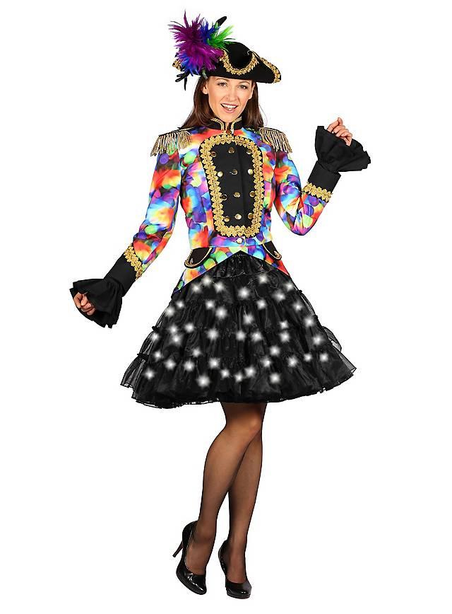 Schwarzer LED Petticoat bunt leuchtend