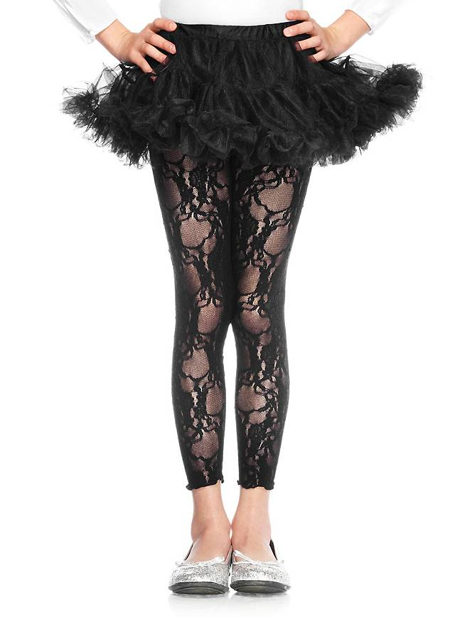 Schwarzer Petticoat kurz für Kinder