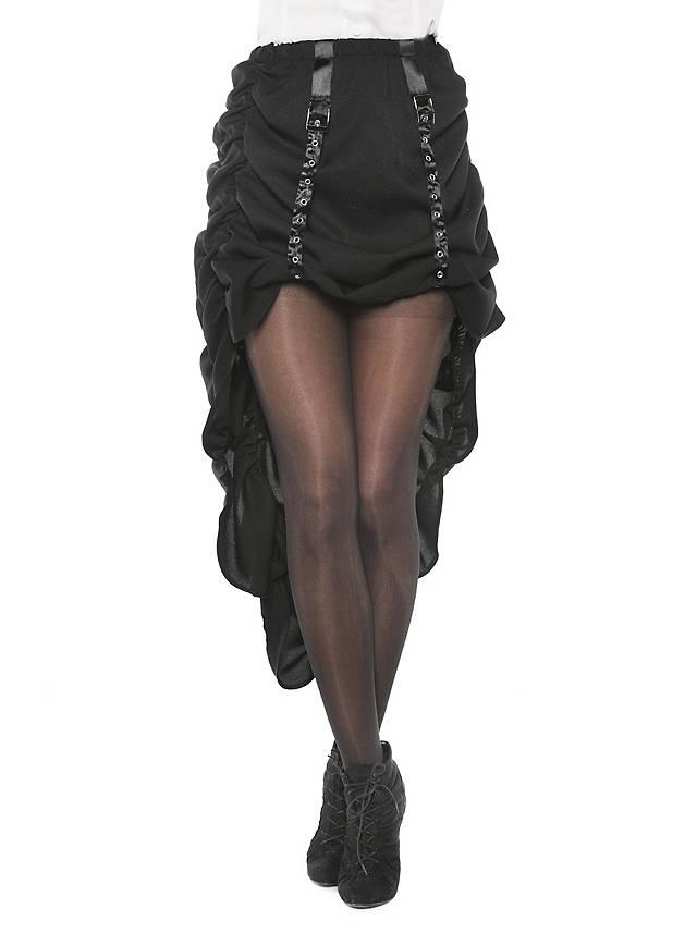 Schwarzer Überrock mit Schleppe