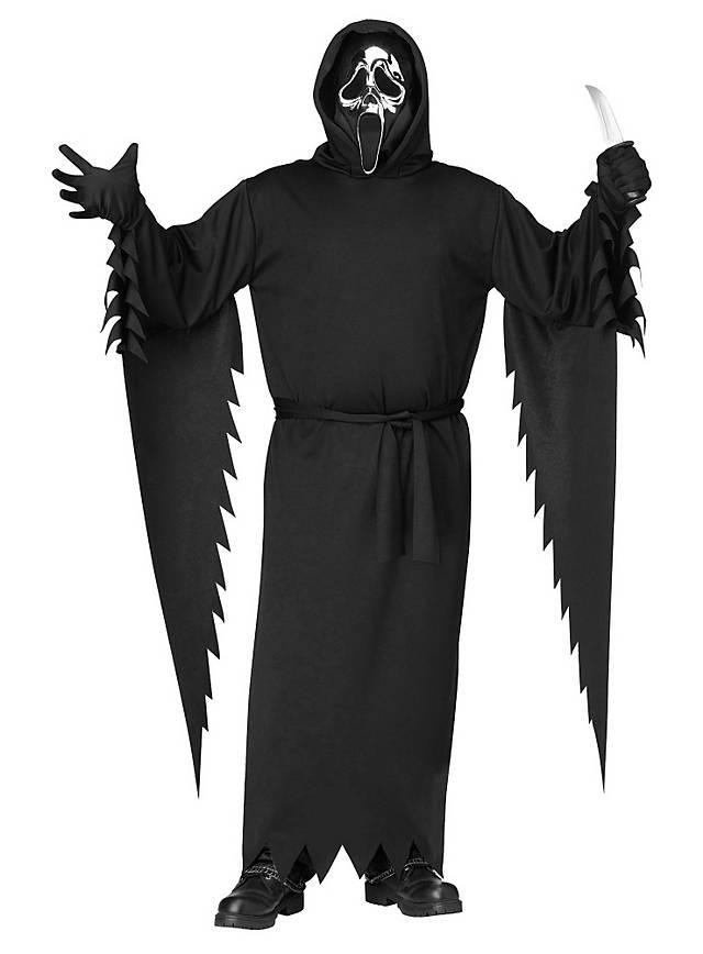Scream Kostüm mit silberner Maske