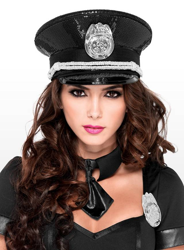 Sequined Police Hat