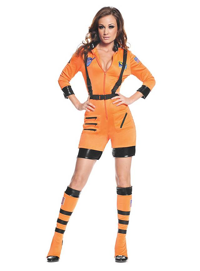 Sexy Astronaut Costume short orange