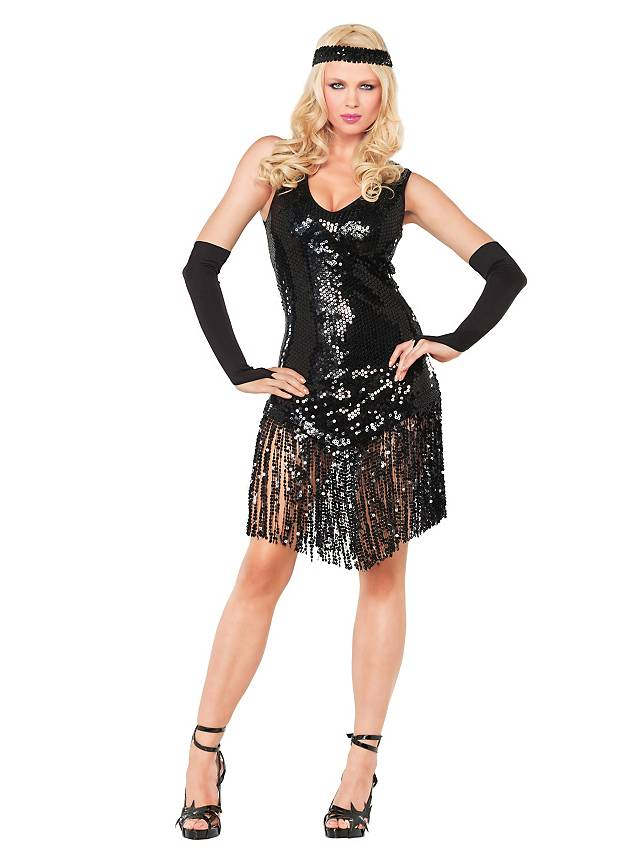 Sexy Charleston black Costume