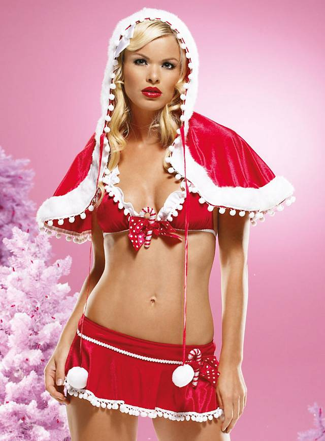 Sexy Christmas Girl Cape