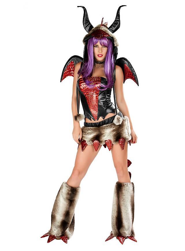 Sexy Fantasy Drache Premium Edition Kostüm