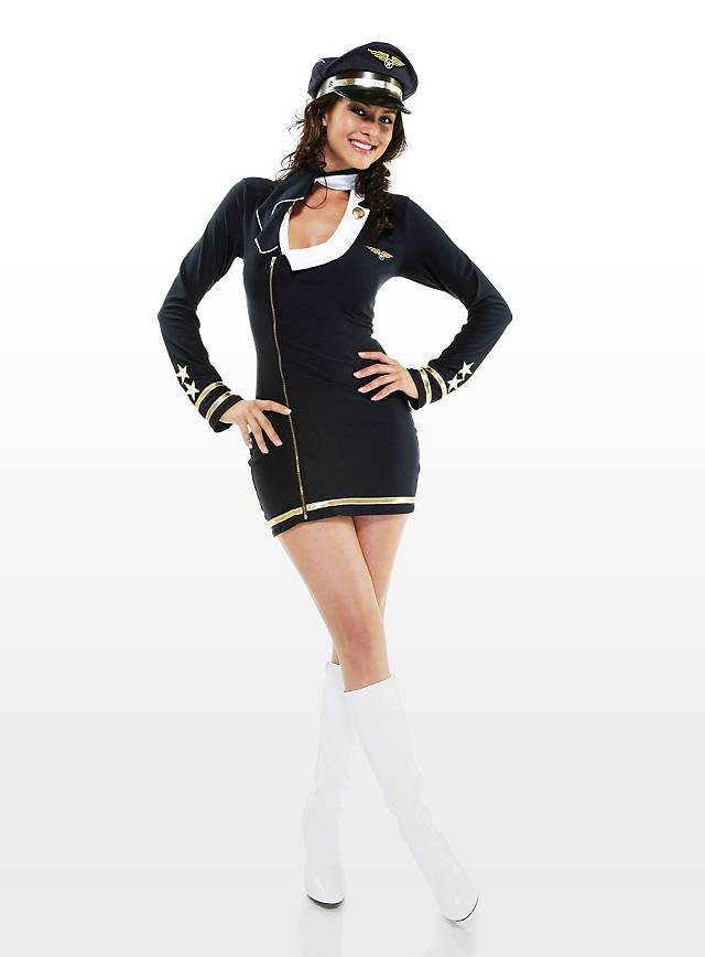 Sexy Flugzeugführerin Kostüm