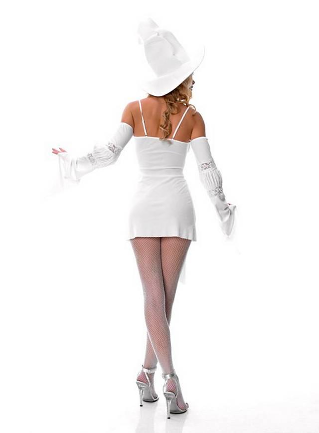 Sexy Hexe weiß Kostüm