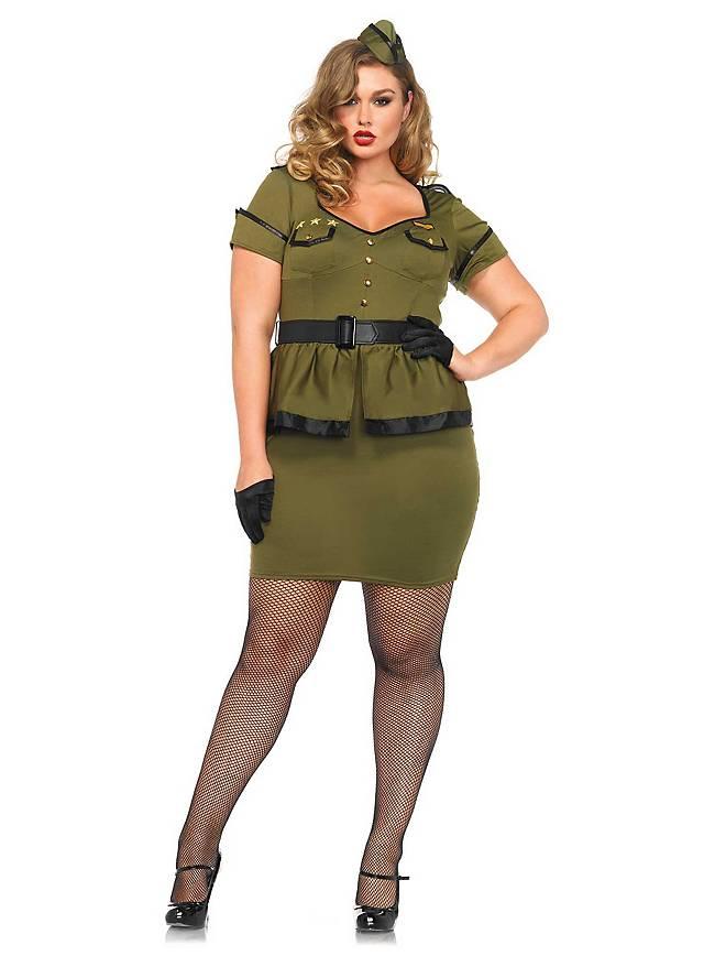 e1574dc979 Sexy Pin-up Commander Plus Size Costume - maskworld.com