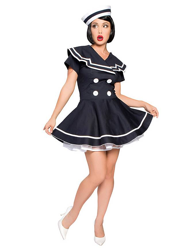 sexy pin up sailor girl costume. Black Bedroom Furniture Sets. Home Design Ideas
