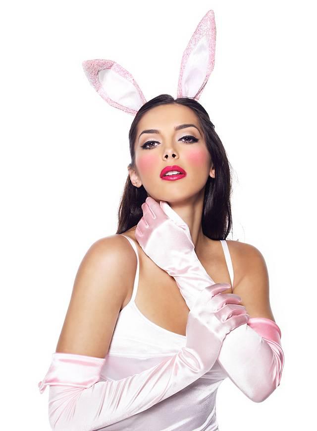 Sexy Pink Bunny Kostümset