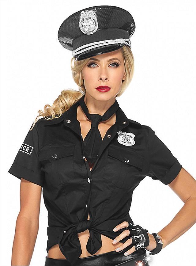 Nackte Polizistin