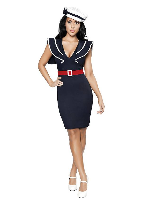 Sexy Retro Sailor Girl Costume